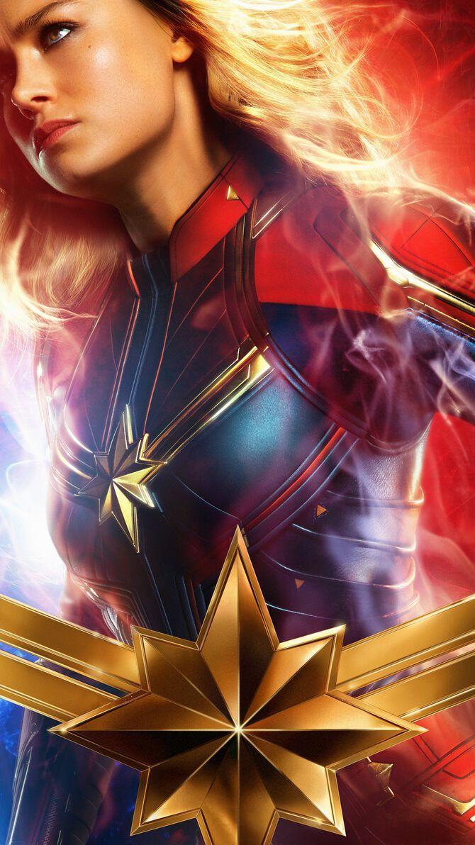 Captain Marvel 2019 Phone Wallpaper Marvel Comics Pinterest