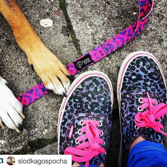 Pink dog leash  Dog leash adjustable  Dog leashes for girls