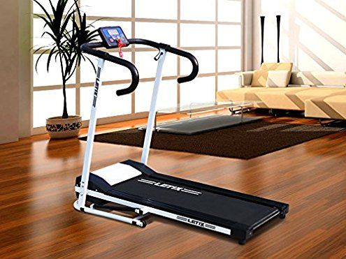 Motorised Treadmill 500 W Electrical Machine Gym Folding Exercise Bikewith LCD Display