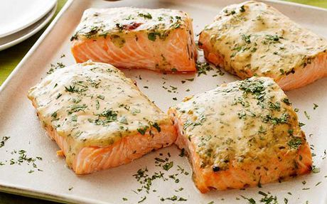 Mustard-Maple Roasted Salmon Recipe by Food Network Kitchens