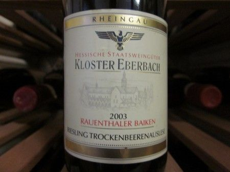 another extremely rare Trockenbeerenauslese from Rauenthaler Baiken