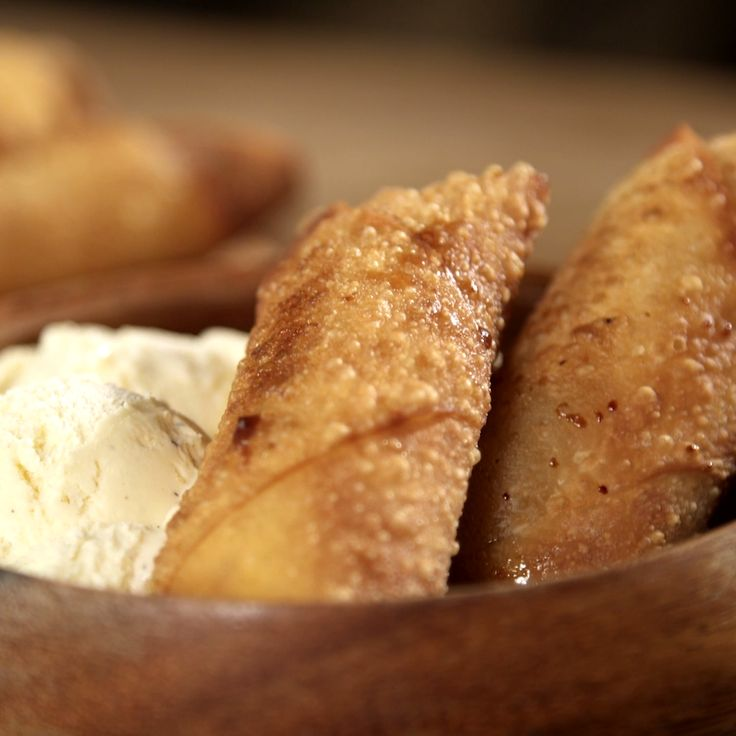 Quick and easy way to make Filipino Banana Lumpia, caramelized banana egg rolls.