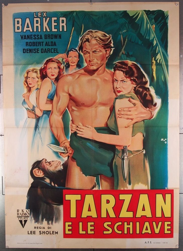 MovieArt Original Film Posters - TARZAN AND THE SLAVE GIRL (1950) 27705, $350.00 (https://www.movieart.com/tarzan-and-the-slave-girl-1950-27705/)