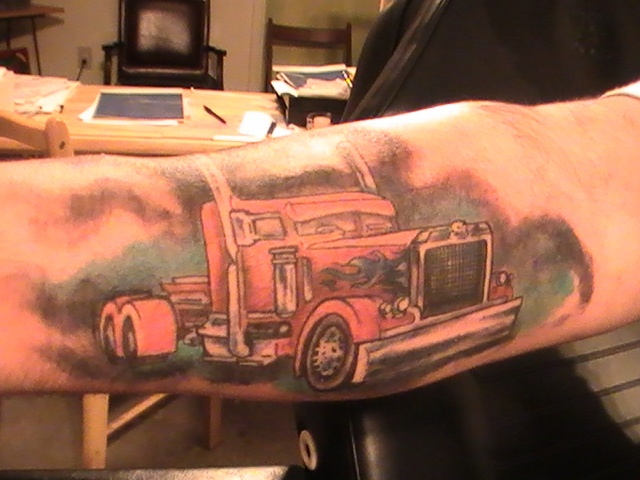 58 best images about tattoos on pinterest fishing for Truck tattoos designs