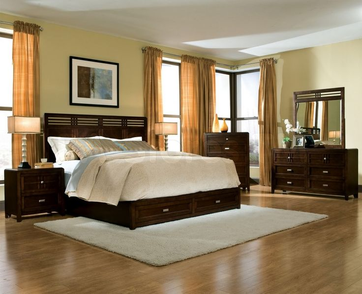 Bedroom Paint Ideas With Dark Brown Furniture unique white bedroom with dark furniture brown hard flooring and