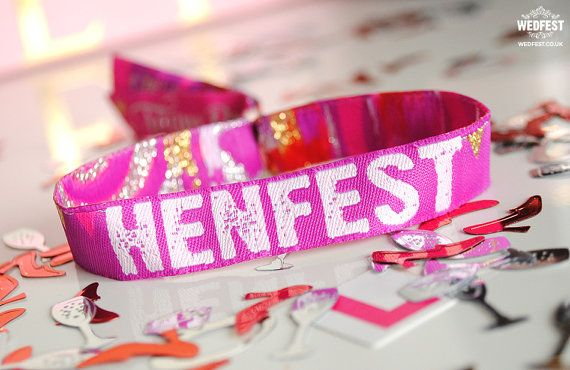 HENFEST Hens Party Wristbands  Festival Hen Party  Wristband