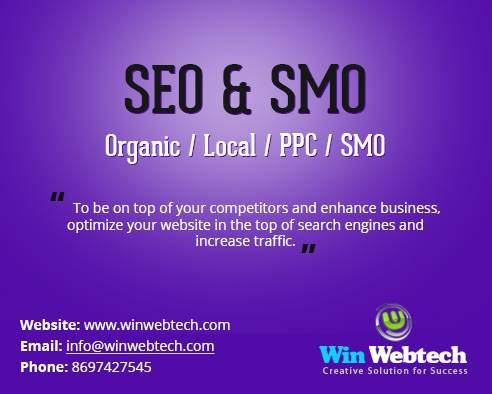 Get best SEO and SMO service from well renowned SEO company, Win Webtech. Contact us now!!