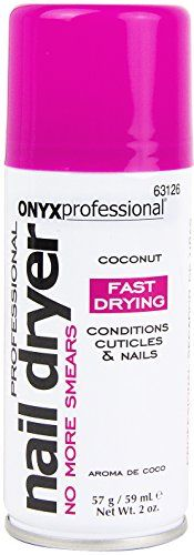 Onyx Professional Spray on Nail Dry w Island Coconut Scent 2oz  Nail Dryer Quickly Dries Nail Polish While Preventing Smearing  Conditions Cuticles  Nails >>> You can find out more details at the link of the image.