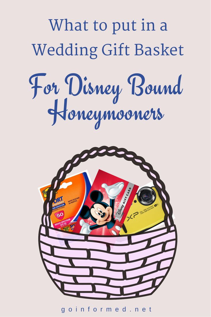 Disney Wedding Gift Basket : ... Gift Baskets on Pinterest Honeymoon basket, Gift baskets and Wedding