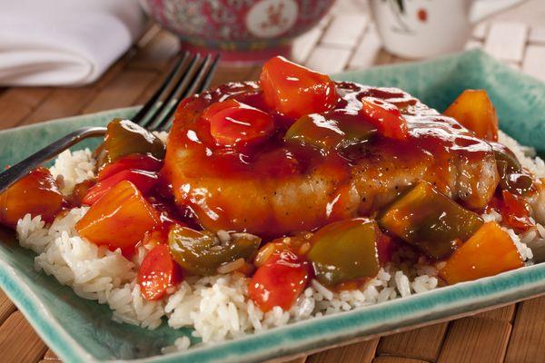 Sweet and Sour Pork Chops | mrfood.com