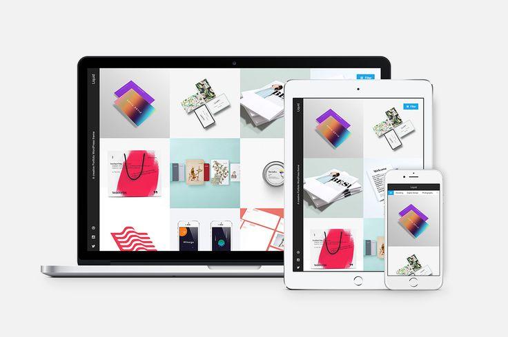 Liquid - Responsive Portfolio Theme by Phase Themes on @creativemarket