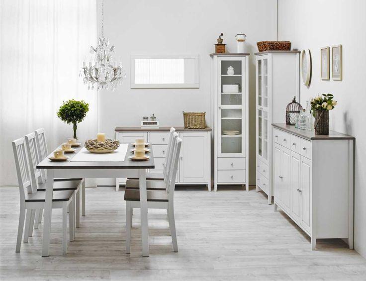 Laulumaa Huonekalut - Ruokailuhuone / keittiö - Laulumaa Sara® - valkoinen / kuultoharmaa