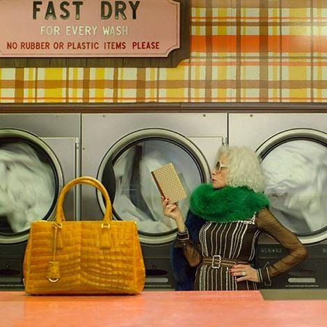 This new Prada video is FAB! Created by Autumn de Wilde (I know, me neither), it's one of a series called The Postman Dreams, has a very Wes Anderson feel and features a gorgeous older model gettin...