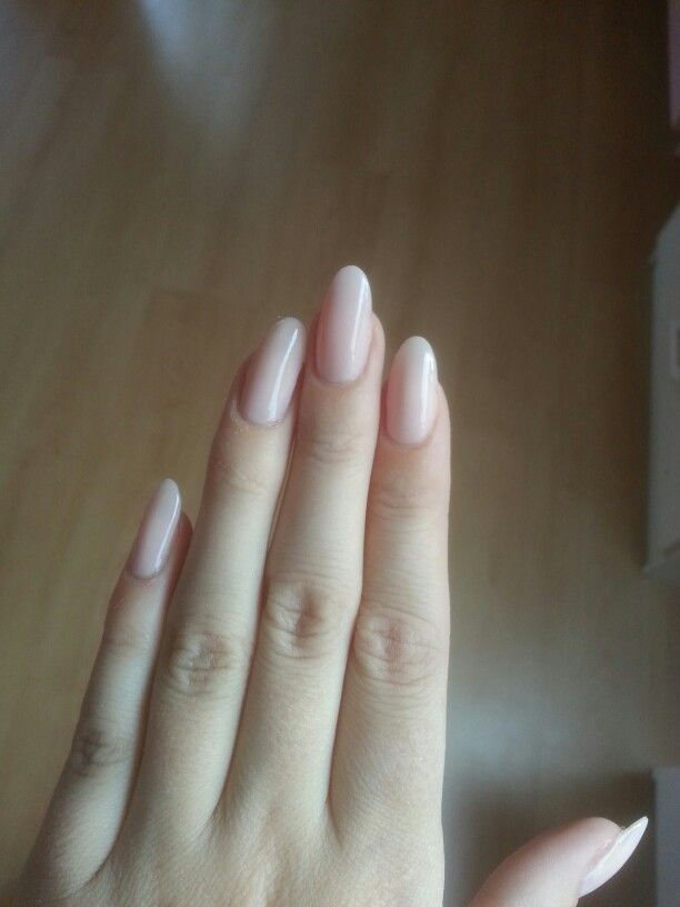 Nude almond nails Wedding nails