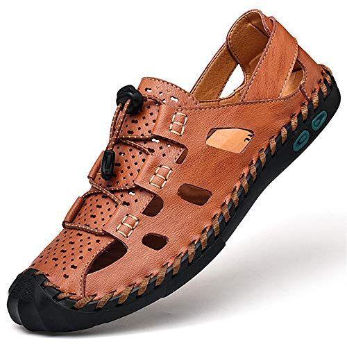 Top Qualität Casual Schuhe Männer Sandalen Sommer Echtem Leder Strand Sandalen… – amazonmode