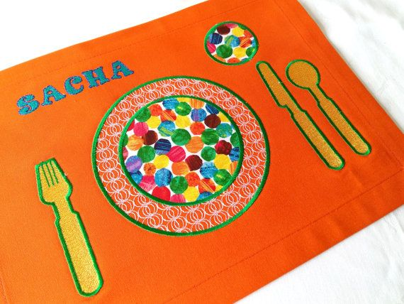 Personalized Placemat Children's Placemat от ViktoriyaDesvarreux