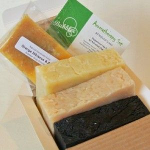 All Natural / Organic Handmade Soap Gift Set – Peppermint Tea Tree w/ Activated Charcoal, Lemongrass, Patchouli Lavender – Made with All Natural / Organic Ingredients