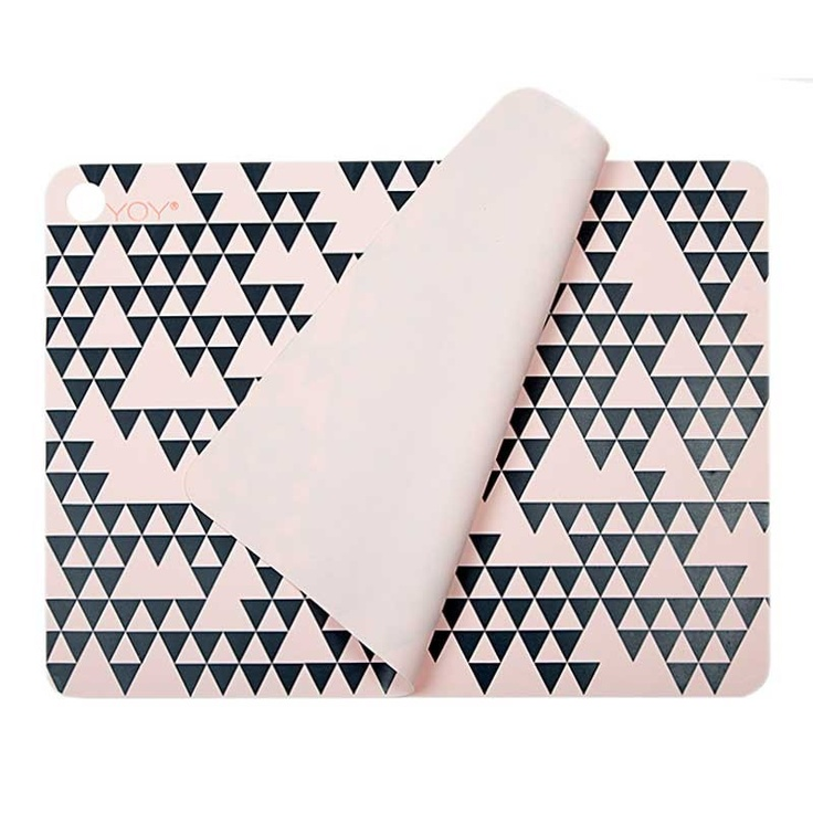 Placemat - Rosa with print - Kitchen - OYOY Living Design ApS: Living Design, Pattern, Oyoy Living, Silicone Placemat, Placemat Rosa, Kitchen, Oyoy Placemats