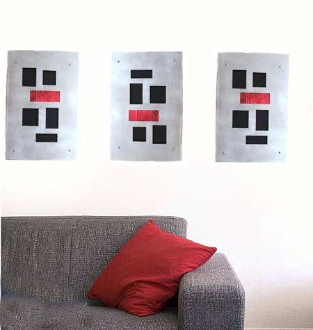 Metal Wall Art of recycled aluminum/stainless by mannmadedesigns, $360.00