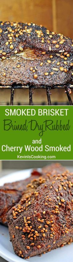A fantastic step by step method for Smoking a brisket starting with a brine, dry rub and cherrry wood in the smoker. Fantastic every time!