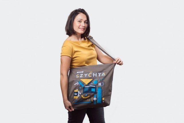 tasza na szychta #gryfnie #tote #bag #shopper #silesia