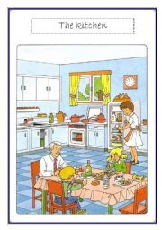 English teaching worksheets: In the kitchen