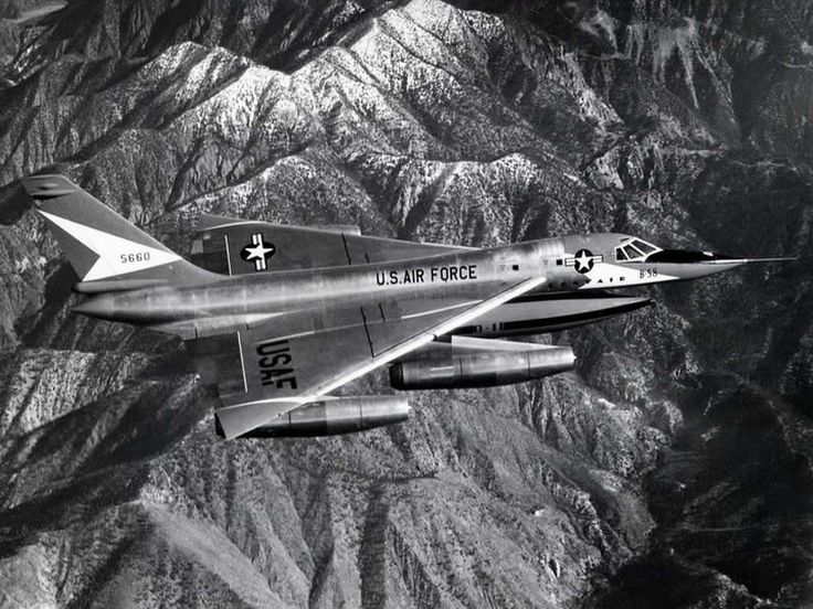The Convair B-58 Bomber In Flight - One of the sexiest aircraft ever built.