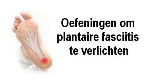 Symptomen van fasciitis plantaris verlichten