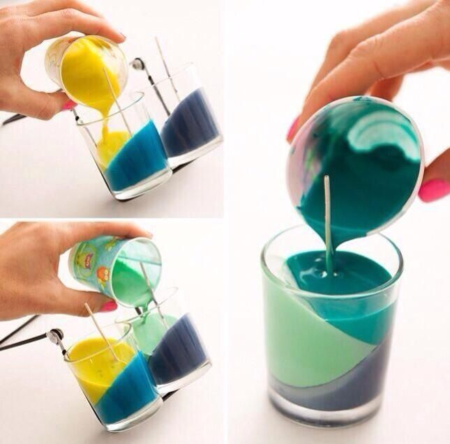 This is really neat. Using melted crayons to create a candle.