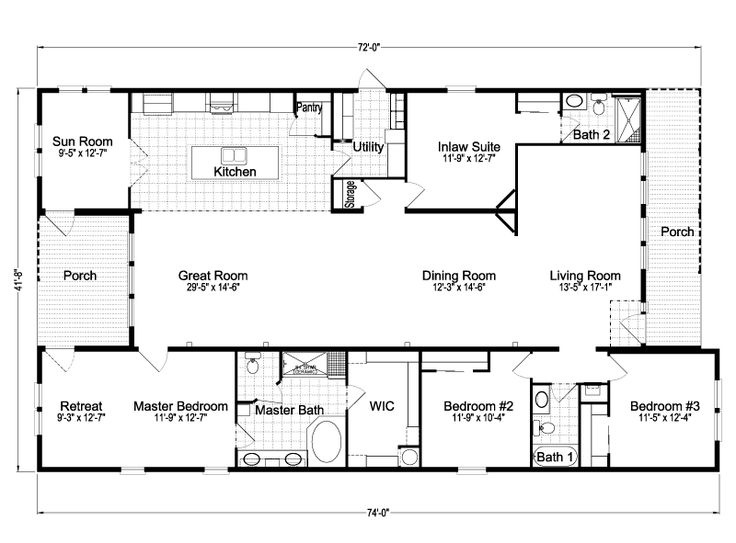 Casita III Home Floor Plan   4 Bedrooms, 3 Baths, Sq.   From Palm Harbor In  Plant City, Florida   Manufactured And/or Modular Floor Plans Available  Floor ...