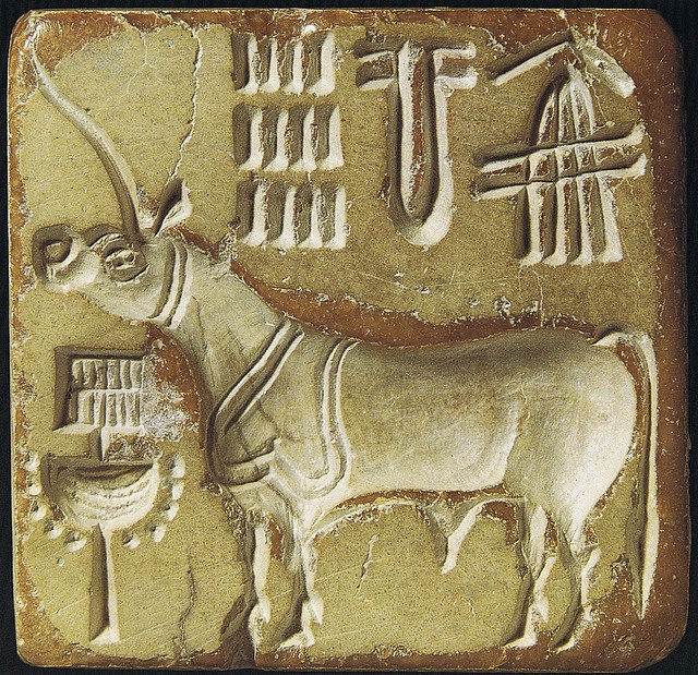 Indus Valley Civilization seal: one-horned bull | India ...