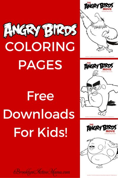 Angry Birds Coloring Pages - Free Downloads For Kids! {Printables}