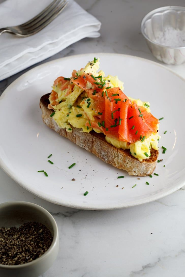 Pin for Later: 101 Amazing Egg Recipes Scrambled Eggs With Smoked Salmon and Chives Get the recipe: scrambled eggs with smoked salmon and chives