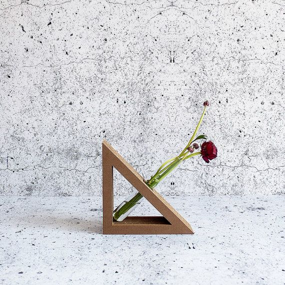Thiele test tube vase. The Lab collection. Form Maker. Cardboard. Eco friendly homeware.