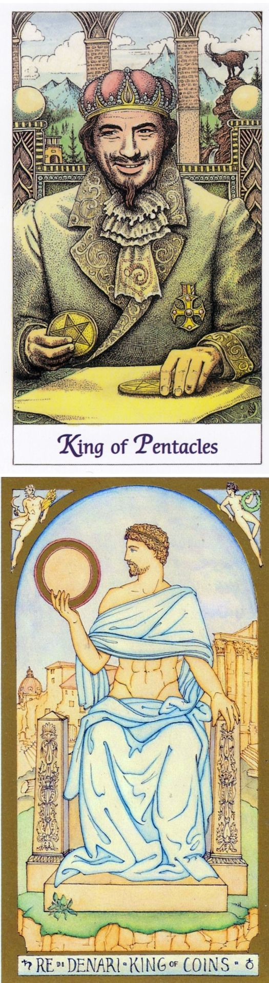 King of Pentacles: security and temptation (reverse). Cosmic Tarot deck and Renaissance Tarot deck: taro on line gratis, free accurate tarot vs ask free astrology question instant answer. Best 2017 ritual symbols and tarot spreads love. #chariot #ilovemywitchyways #backtonature # #fool
