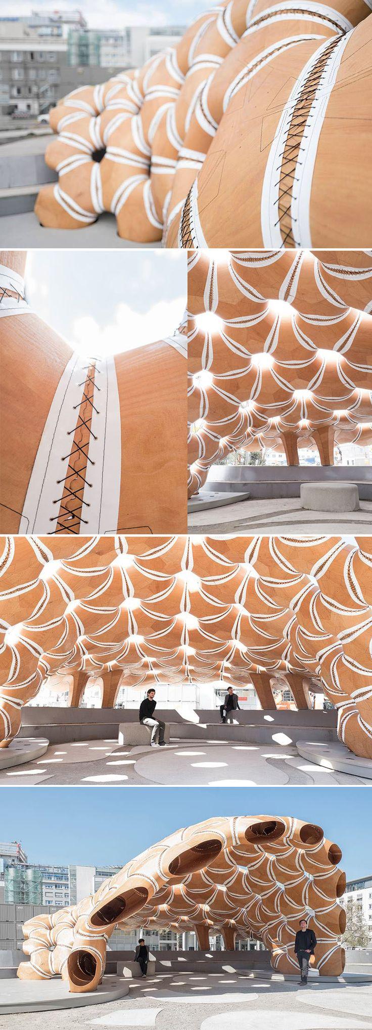Pavilhão inspirado no ouriço-do-mar explora uma nova forma de arquitetura