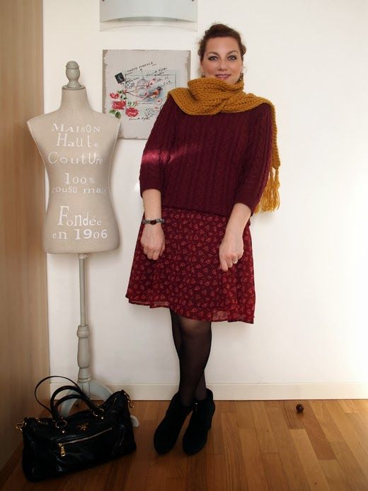 #verdementa - #fashion from my #curvy point of view: #Outfit | monocromo campagnolo #country lady, #burgundy