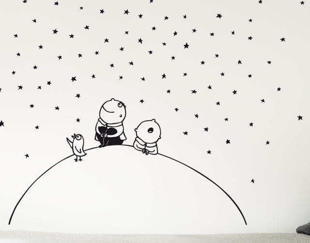 Stars wallstickers for kidsroom