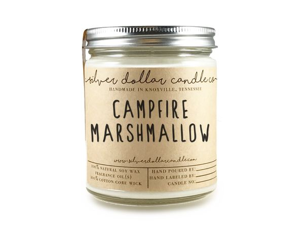 Campfire Marshmallow - 8oz Soy Candle - Silver Dollar Candle Co