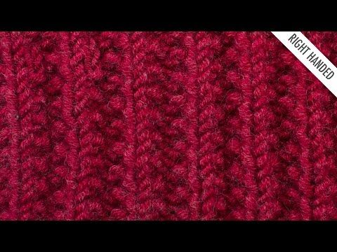 The Mistake Rib Stitch :: Knitting Stitch :: New Stitch a Day/ Unlike most ribs, this stitch doesn't pull the fabric in. It is a wonderful reversible pattern with a rich texture that would work well for scarfs, blankets, and other cozy projects.