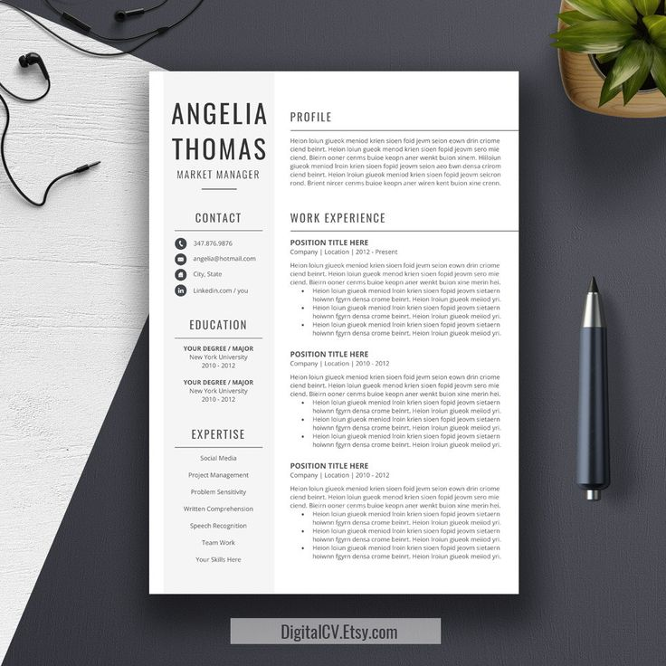 22 best Resume Templates images on Pinterest Cv template - resume templates for microsoft office