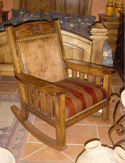 Southwestern And Western Rocking Chairs Design