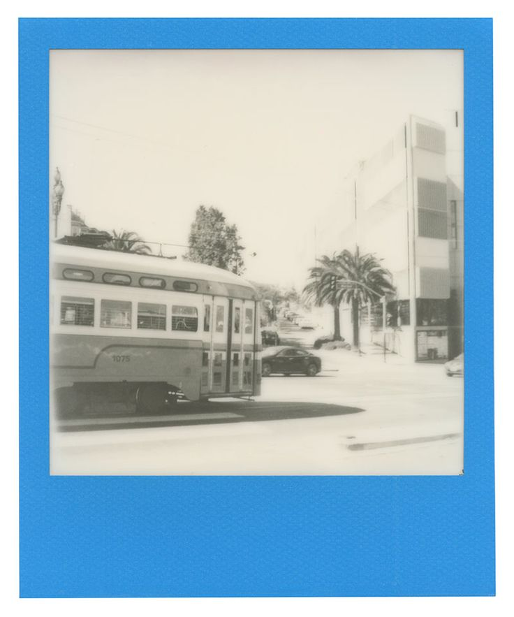 Polaroid 600 film: Trolley on Market Street in San Francisco