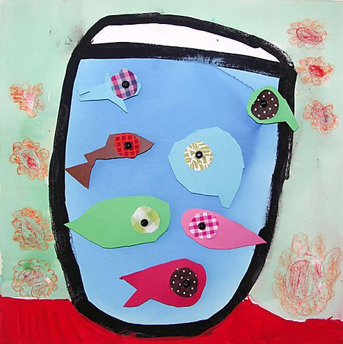 fish bowl: this will be our letter of the week F art project