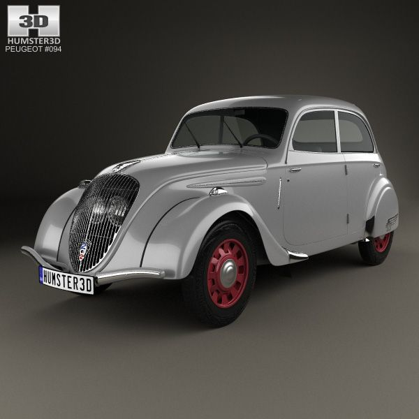 Peugeot 202 Berline 1938 3d model from Humster3D.com.