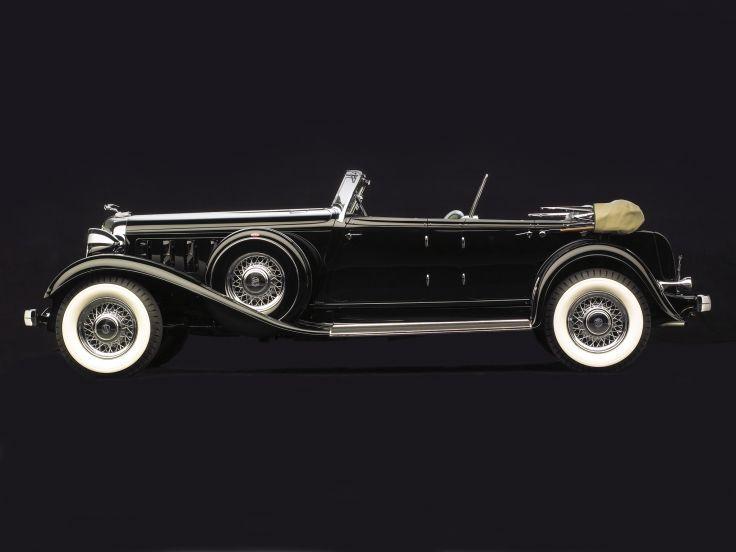 1933 Chrysler LeBaron Imperial Sport Phaeton retro d papel tapiz de fondo