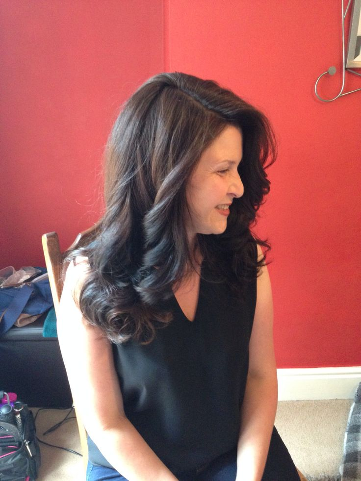 Long layers and curly blowdry