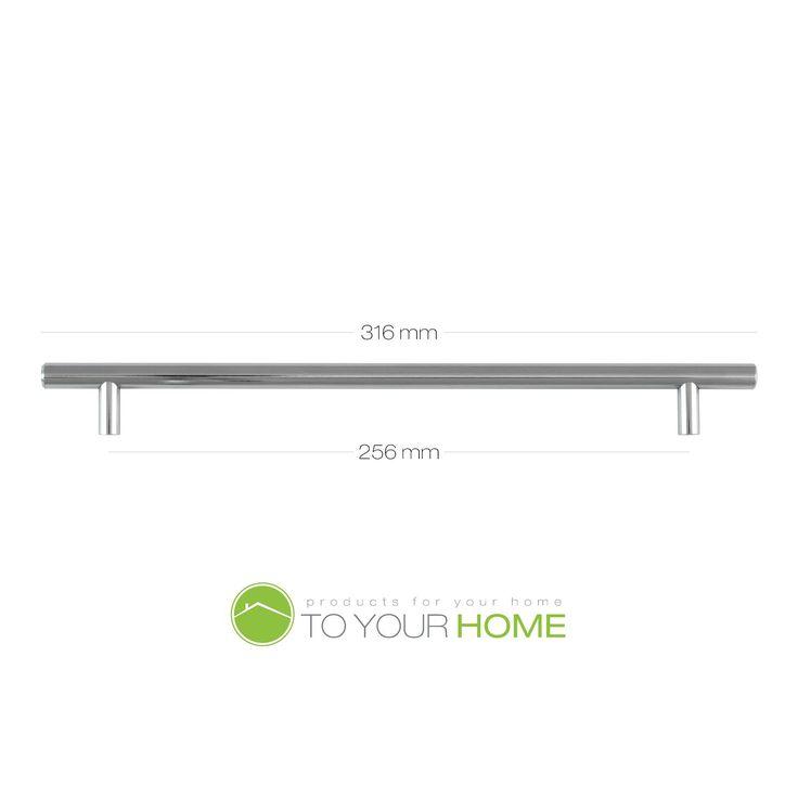 T Bar Solid Chrome Kitchen Cupboard Cabinet Drawer Door Handles 5 Sizes | eBay