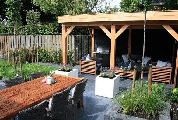 17 beste afbeeldingen over bijgebouwen tuin en poolhouses op pinterest tuinen zwembad - Deco terras zwembad ...