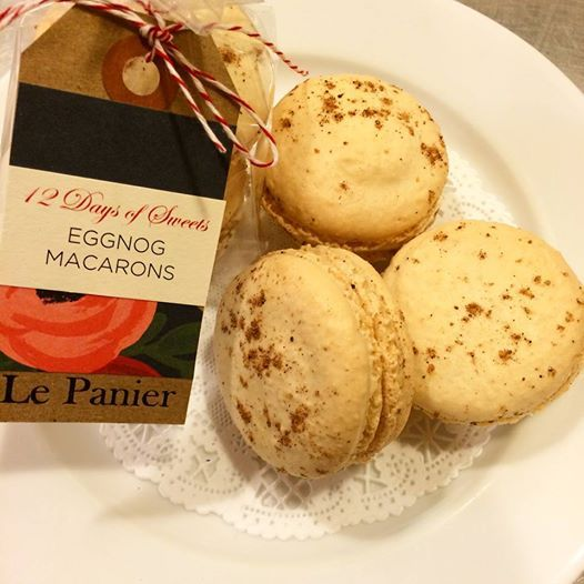 Dec 4 Eggnog Macarons | 12 Days of Sweets & Treats | Pinterest